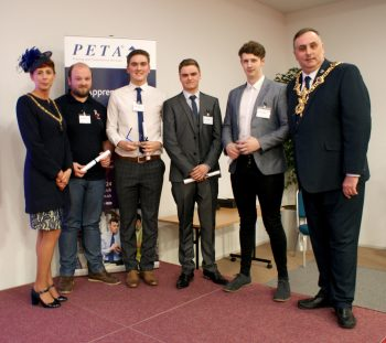 Engineering Nominees and Winners with The Lord Mayor of Portsmouth, Councillor David Fuller and Lady Mayoress Leza Tremorin.