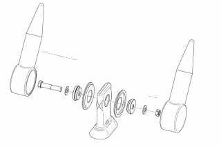 Busbar exploded diagram showing double electrical shrouds