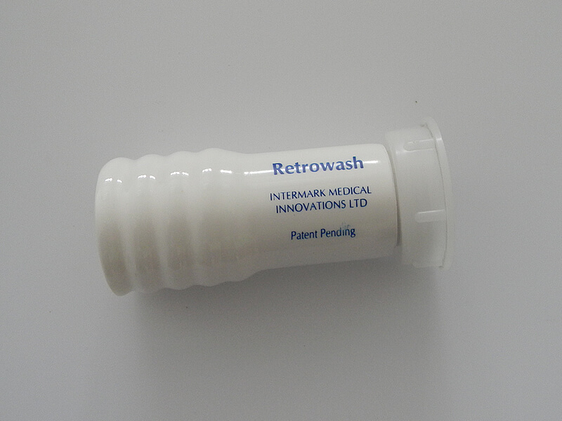 Custom dip moulded cuff used for medical healthcare operation for flushing manufactured by Runfold Plastics